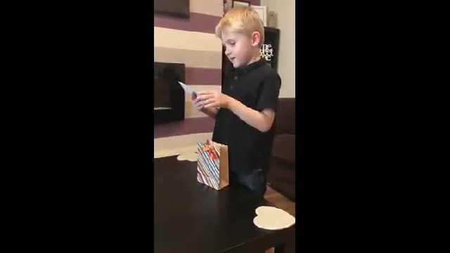 Little Boy Gets A Gift From His Mom. When He Sees What T-Shirt Says, He Breaks Down Crying