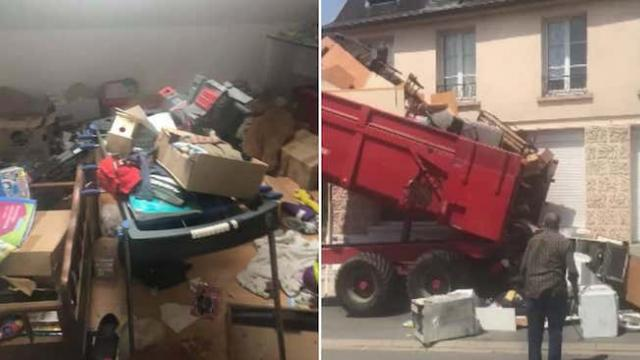 Tenants left their mess in old apartment so landlord dumps them in their new home
