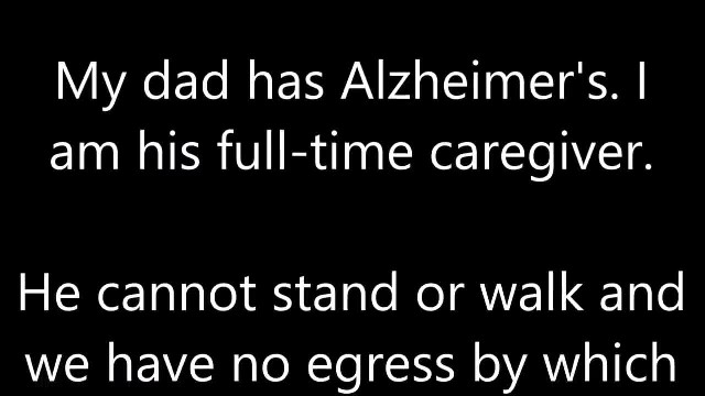 Someone asked if my dad knows he has Alzheimer's, so I asked him...