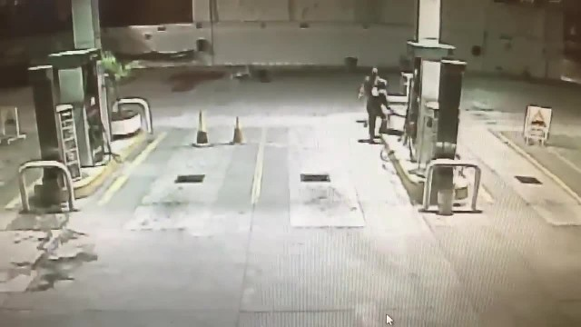 Stray Dog Adopted By Gas Station Rushes To The Rescue During Armed Robbery