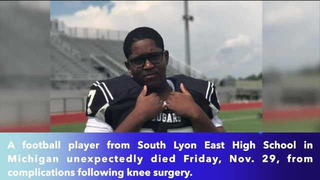 South Lyon East football player dies after knee surgery !