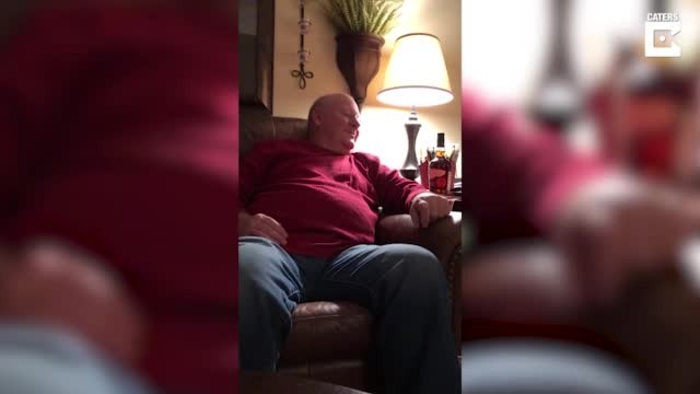 Grandfather chokes up when granddaughter starts singing song he wrote in the '80s