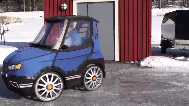 It Looks Like The World's Smallest Car, But Watch When He Opens The Door. Unbelievable!