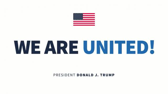 No American is alone as long as we are united!