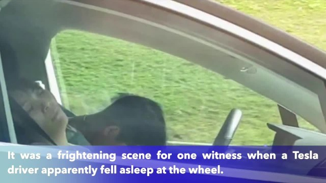 Tesla driver apparently caught asleep at the wheel going 60 mph