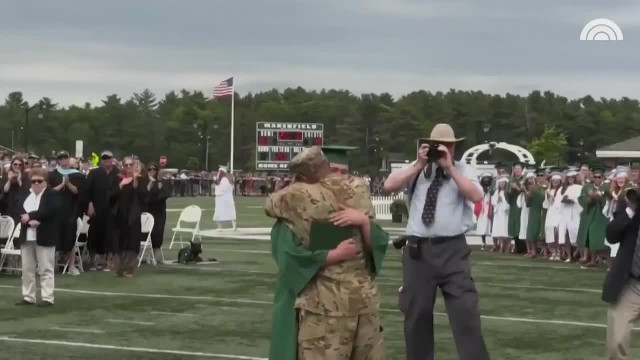 Deployed U.S. Army Sergeant Surprises Son At His Graduation