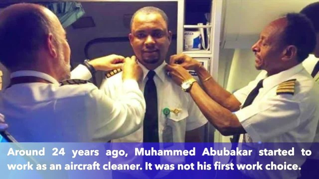 Airplane cleaner becomes a pilot after 24 years of work