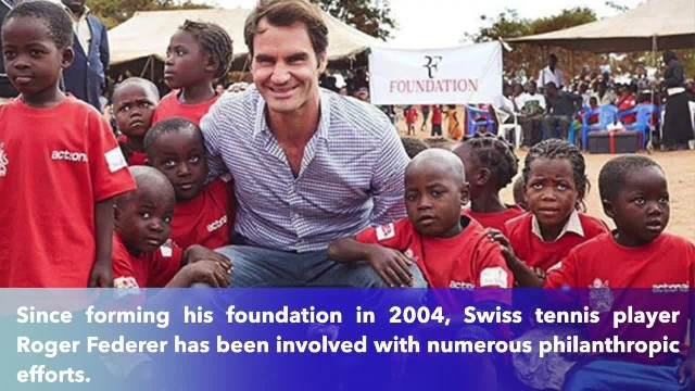 Roger Federer provides schooling and food for a million children