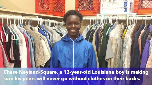 13-year-old Louisiana boy creates school closet to provide needy classmates with clothes, necessitie