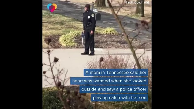 Police Officer Spots Little Boy Playing Alone in Cold, Stops Car