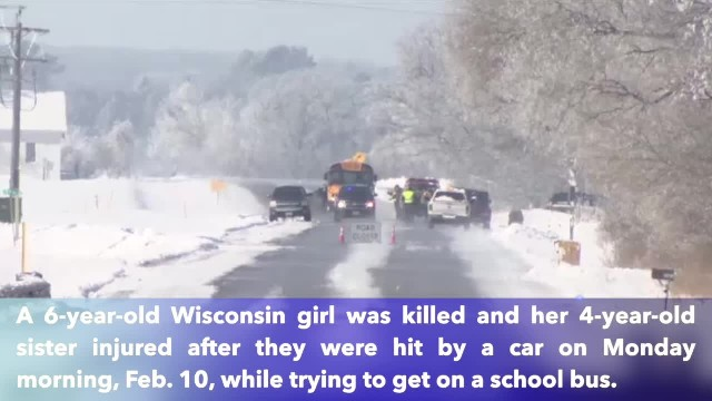 Kindergartner killed by car while waiting for school bus; younger sister injured