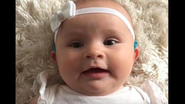 Baby hears mom's voice for the 1st time only to have adorable reaction that's melting hearts