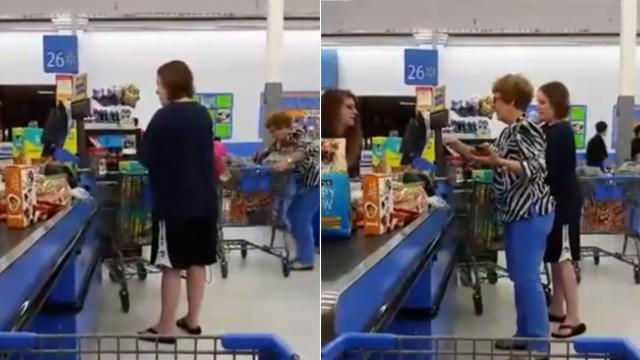 Mom realizes there's no deal on diapers so leaves: Camera catches stranger's next move in latest vir