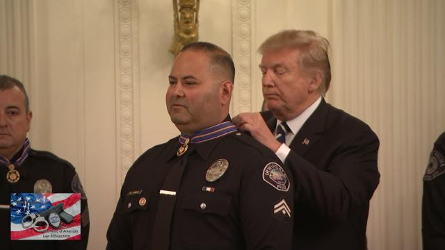 President trump Honors Police-Randy Sutton-The Voice of American Law Enforcement