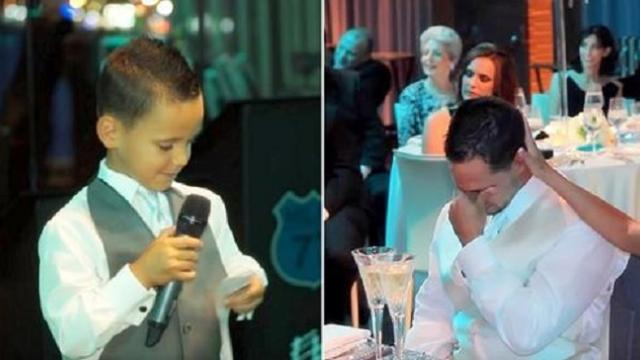 Dad asks 7-year-old to be his best man not knowing he'd expose truth forcing tears on all
