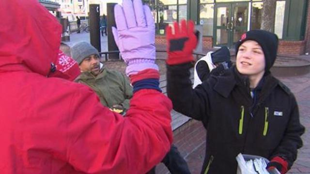 12-year-old spreads message of kindness along with free lunches for homeless
