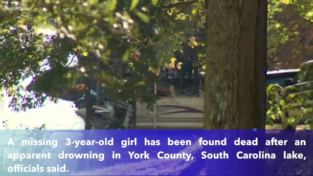 Missing 3-year-old girl found dead after apparent drowning in South Carolina lake