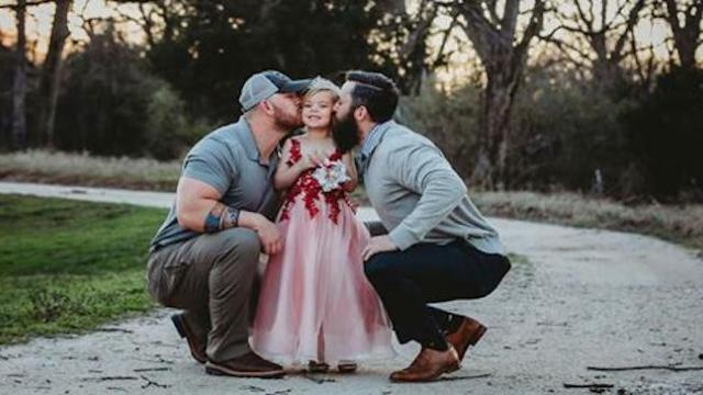 Dad agrees to photoshoot with ex wife's fiance & daughter then sees fiance's remark about them onlin