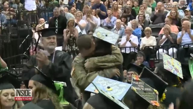Military Father Surprises Daughter During Her College Graduation