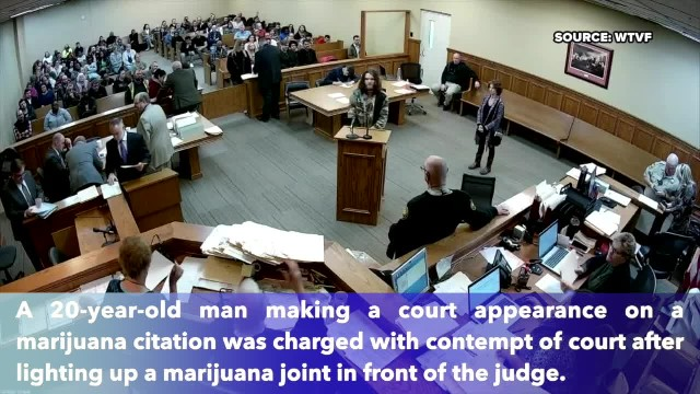 Tennessee man arrested after smoking marijuana in courtroom