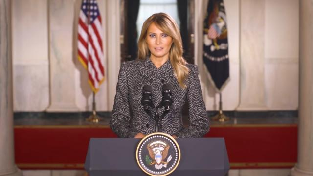 A message from First Lady Melania Trump