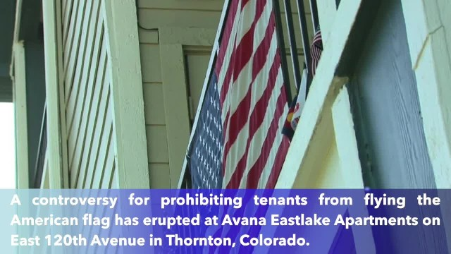 Disabled veteran risks eviction from Colorado apartment building for displaying American flag