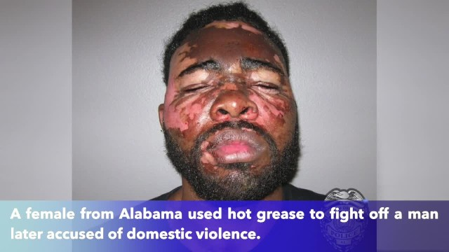 Woman fights off suspect using hot grease