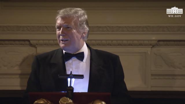 President Trump Attends the Governors' Ball