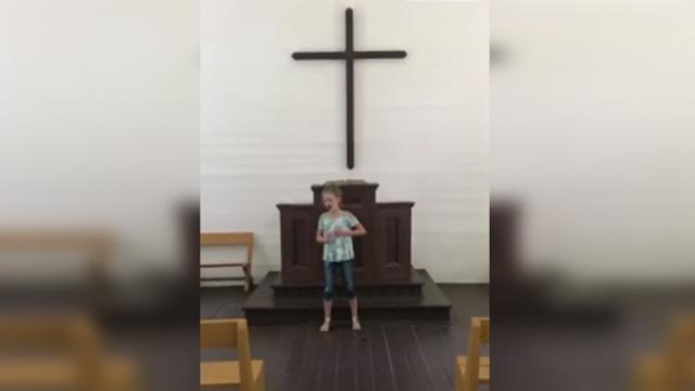 12-Year-Old Girl Stands in Empty Church & Sings 'How Great Thou