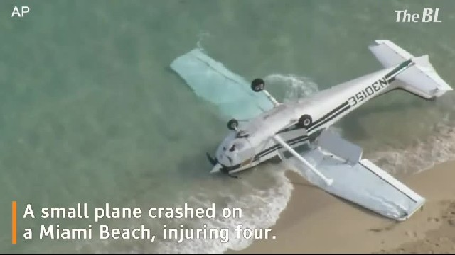 Small plane crashes on a Florida beach