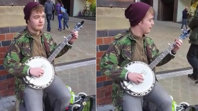 This isn't any ordinary banjo playing