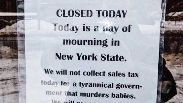 NY bookstore owner closes for 'day of mourning' in protest of abortion law