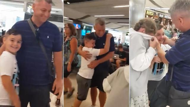 Divorced mom sets out with kids on vacation, then son sees dad at the airport