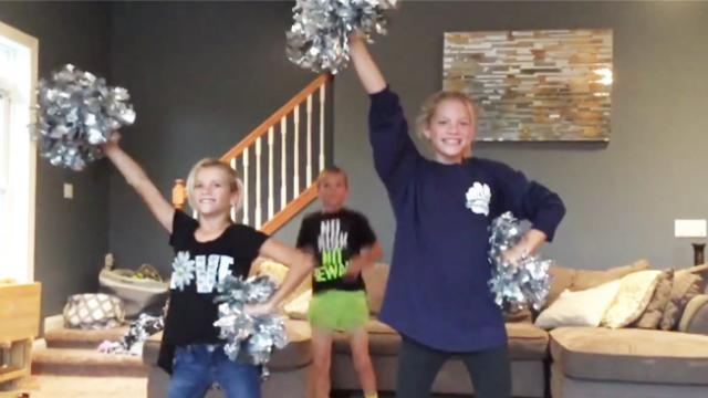 Two sisters get ready to perform routine, unaware their kid brother is only a moment away from steal