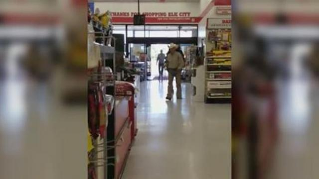 Man hears leashed animals are allowed in the store, so he brings his 2,000 pound pet in