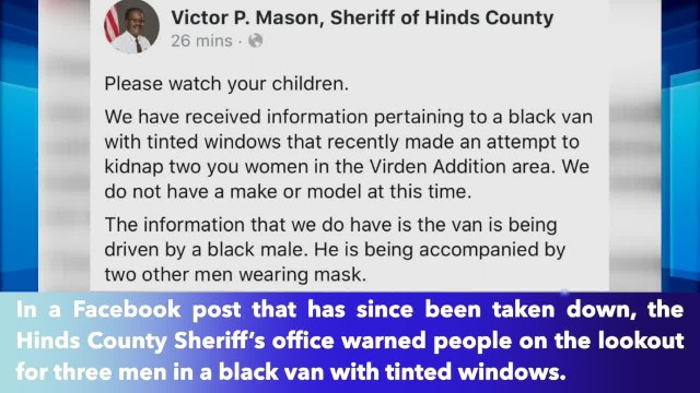 Sheriff deletes post that warns residents of attempted kidnapping in Mississippi