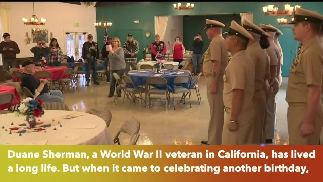 50,000 strangers make WWII Veteran's birthday wish come true