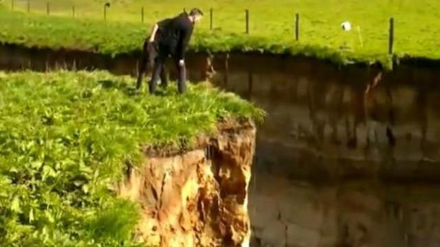 Biggest ever' sinkhole ripped open in New Zealand, and unearthed history