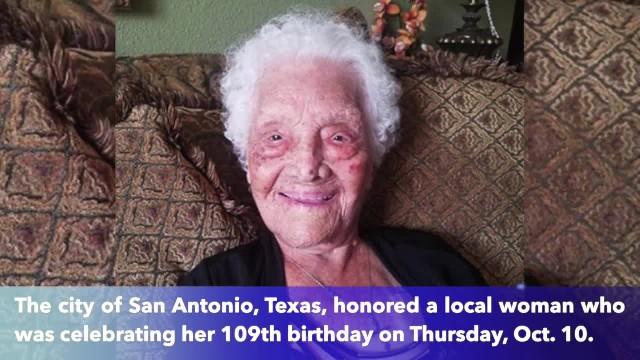 Happy Birthday to San Antonio's woman, OMG, who turns 109-years-old