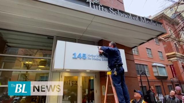 Tufts University removes Sackler sign from building