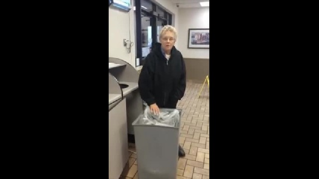 One-Armed McDonald's Employee In Blackwell, Oklahoma