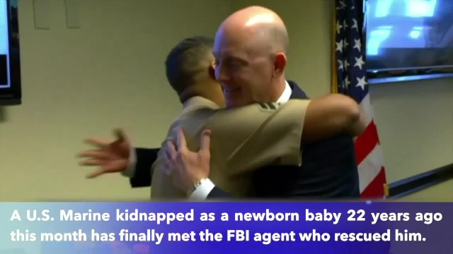 Marine kidnapped as infant meets FBI agent who rescued him from dumpster