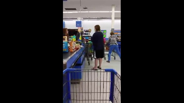 Everyone In Line Was Getting Impatient With Her Until The Woman In The Zebra Jacket Swoops In