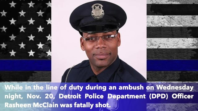 Michigan Officer Rasheen McClain murdered in ambush during call remembered as 'a hero and a leader'