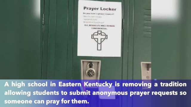 Kentucky school removes 'prayer locker' after receiving complaint from a national organization