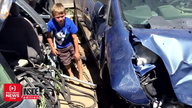 8-year-old boy saves dad after he gets trapped under car, says angels helped him