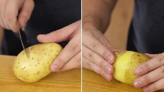 This simple hack means you'll never have to peel potatoes again