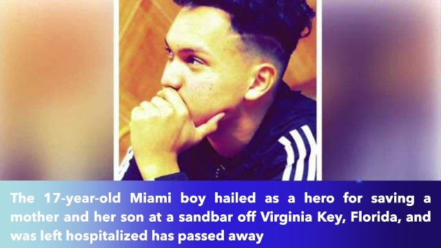 Florida teen who saved mother and 9-year-old son from drowning off Virginia Key dies