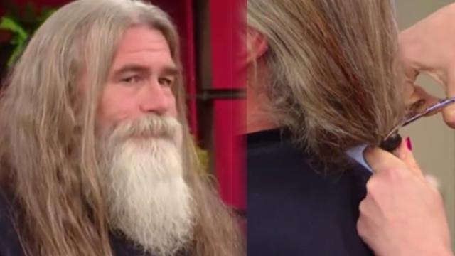 He hasn't cut hair since mom died. years later, it's finally time to see who's hiding underneath