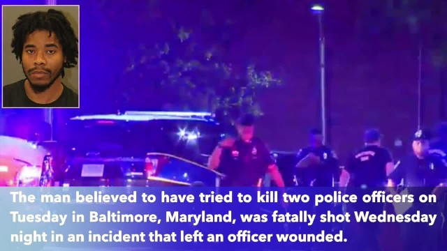 Baltimore police shot in gunfight with man allowed to escape after trying to kill 2 officers